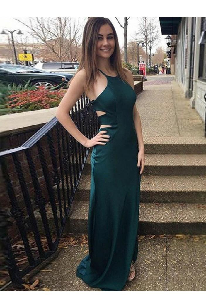 Simple Sheath Long Prom Dress Formal Evening Dresses 601731