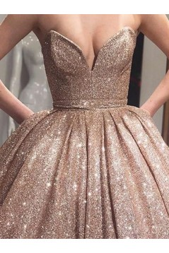 Ball Gown Sweetheart Sequins Long Prom Dress Formal Evening Dresses 601734