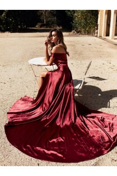 Elegant Off-the-Shoulder Long Prom Dress Formal Evening Dresses 601742