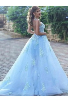Ball Gown Lace Long Prom Dress Formal Evening Dresses 601743