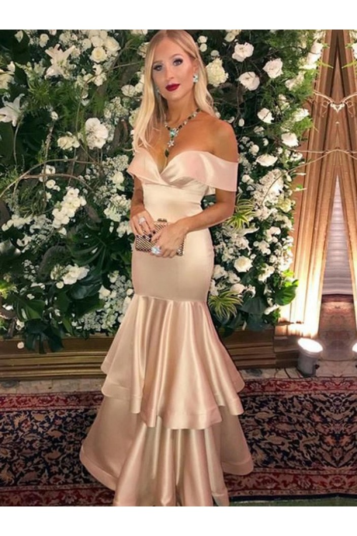 Mermaid Off-the-Shoulder Long Prom Dress Formal Evening Dresses 601758