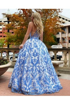 Ball Gown Lace Long Prom Dress Formal Evening Dresses 601765