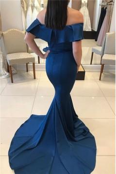 Mermaid Off-the-Shoulder Long Prom Dress Formal Evening Dresses 601770