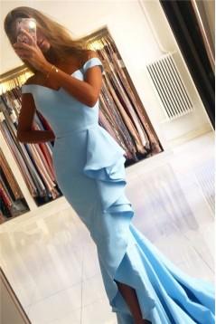 Mermaid Off-the-Shoulder Long Prom Dress Formal Evening Dresses 601786