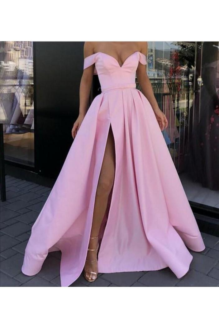 A-Line Off-the-Shoulder Long Prom Dress Formal Evening Dresses 601810
