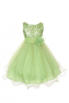 Sequins and Tulle Flower Girl Dresses F010006