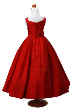 A-Line Red Flower Girl Dresses F010007