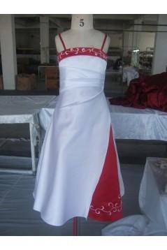 A-Line Spaghetti Strap Flower Girl Dresses F010021