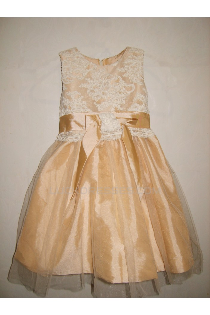 Ball Gown Lace and Tulle Flower Girl Dresses F010029