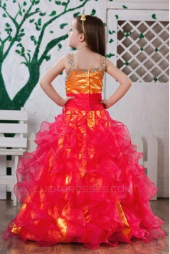 Ball Gown Beaded Straps Sleeveless Flower Girl Dresses 2050008