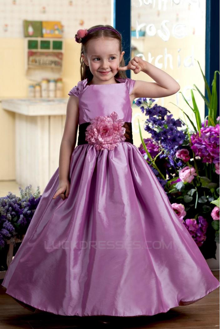 A-Line Straps Handmade Flowers Flower Girl Dresses 2050009