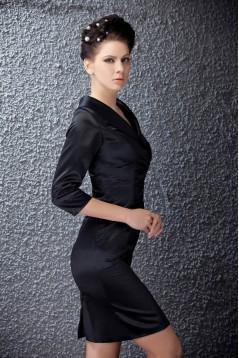 Sheath 3/4 Sleeve Short Black Mother of the Bride Dresses M010019