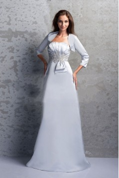 A-Line Floor Length Mother of the Bride Dresses with A Jacket M010022