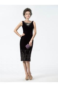 Sheath Knee-Length Beaded Mother of the Bride Dresses M010031