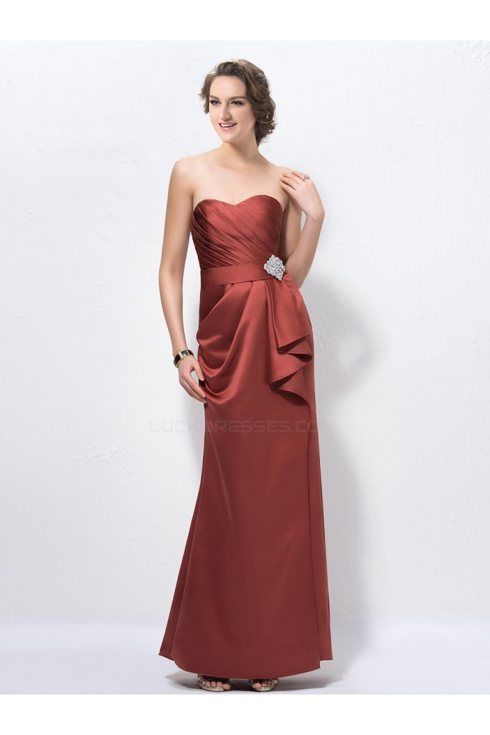 Long Satin Sweetheart Mother of the Bride Dresses M010037
