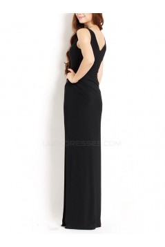 Sheath Long Black Mother of the Bride Dresses M010042