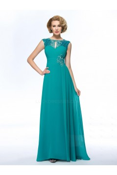 A-Line Beaded Sequins Long Chiffon Mother of the Bride Dresses M010050