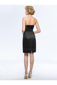 Short Black Mother of the Bride Dresses with A Lace Jacket M010056
