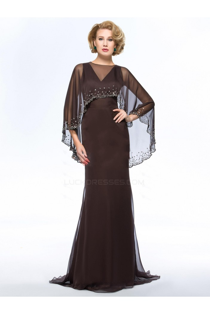 Long V-Neck Chiffon Mother of the Bride Dresses M010066
