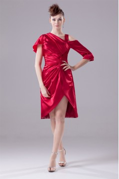 Asymmetrical A-Line Elastic Woven Satin Mother of the Bride Dresses 2040006