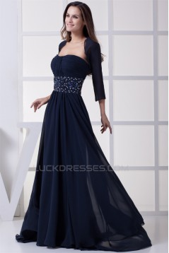 A-Line Chiffon Beading Floor-Length Mother of the Bride Dresses with A Jacket 2040009