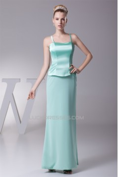 Chiffon Silk like Satin 3/4 Sleeve Straps Mother of the Bride Dresses 2040029