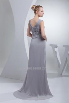 Sheath/Column V-Neck Beading Mother of the Bride Dresses 2040033