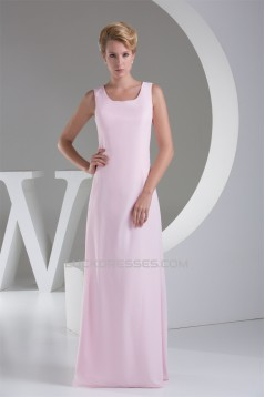 Chiffon Silk like Satin Sheath/Column Ruffles Long Sleeve Mother of the Bride Dresses 2040034