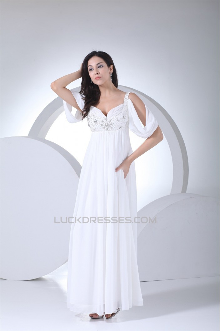 Cystal Floor-Length Sweetheart Satin Chiffon Mother of the Bride Dresses 2040036