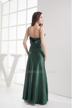 Floor-Length Spaghetti Straps Ruched Long Sleeves Mother of the Bride Dresses 2040041