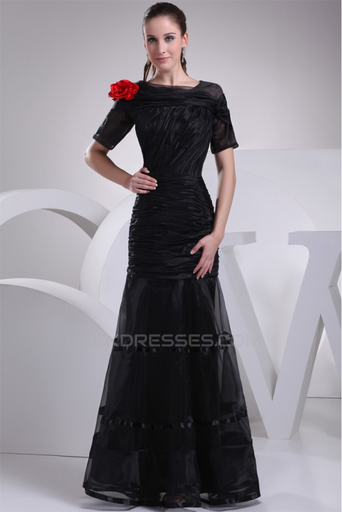 Trumpet/Mermaid Short Sleeve Floor-Length Mother of the Bride Dresses 2040043