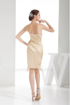 Knee-Length Satin Beading Sweetheart Sleeveless Mother of the Bride Dresses 2040049