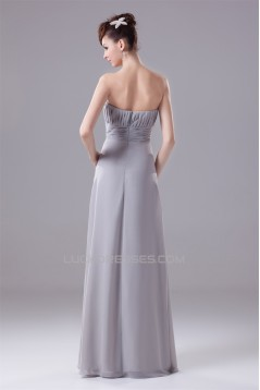 Sheath/Column Long Sleeves Floor-Length Chiffon Mother of the Bride Dresses with A Jacket 2040052