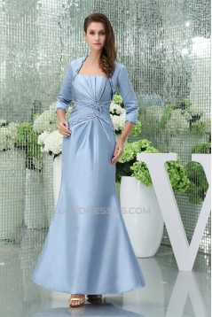 Mermaid/Trumpet Criss Cross Strapless Satin Mother of the Bride Dresses with A 3/4 Sleeve Jacket 2040054