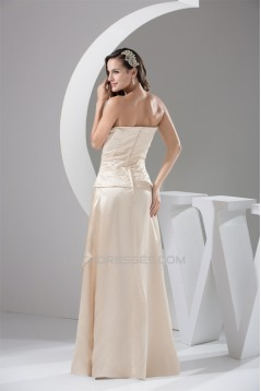 Off-the-Shoulder Sleeveless Floor-Length Mother of the Bride Dresses 2040055