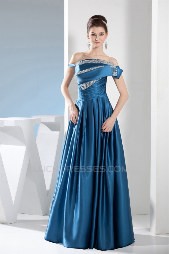 A-Line Beaded Long Mother of the Bride Dresses 2040057