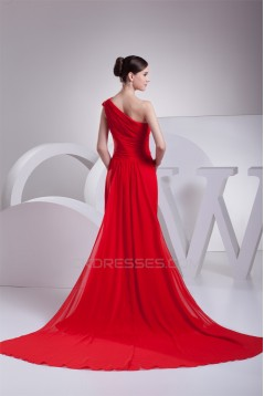Sheath/Column Ruched Chiffon Long Red Mother of the Bride Dresses 2040063