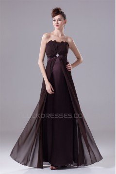 A-Line Satin Chiffon Beading Sleeveless Mother of the Bride Dresses 2040065