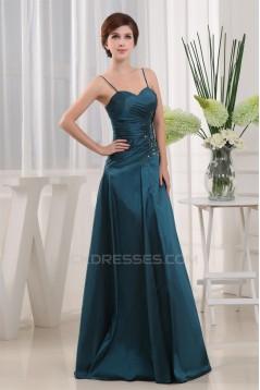 A-Line Floor-Length 3/4 Sleeve Satin Taffeta Mother of the Bride Dresses with A Jacket 2040067