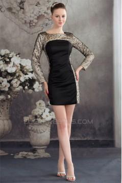 Sequins Short/Mini Silk like Satin Fine Netting Mother of the Bride Dresses 2040070
