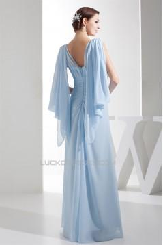 Sheath/Column Beading Chiffon Long Mother of the Bride Dresses 2040071