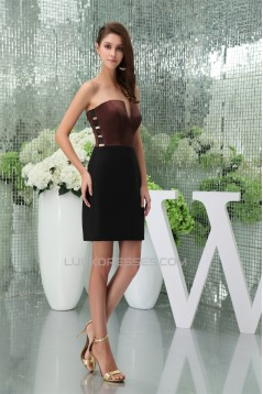 Sheath/Column Hollows Sleeveless Short/Mini Mother of the Bride Dresses 2040073