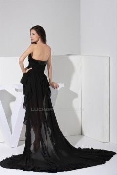 High Low Sweetheart Sleeveless Chiffon Sequined Material Elastic Silk like Satin Mother of the Bride Dresses 2040076