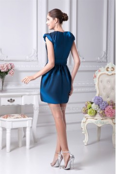 Sheath/Column Taffeta Short/Mini Beading Mother of the Bride Dresses 2040077