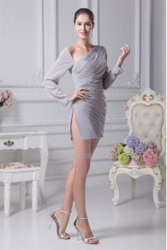 Sheath/Column V-Neck Long Sleeves Ruffles Mother of the Bride Dresses 2040078