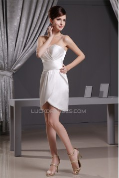 Silk like Satin Asymmetrical Soft Sweetheart Mother of the Bride Dresses with A Jacket 2040084