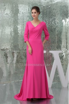 Sheath/Column Ruffles 3/4 Sleeve Mother of the Bride Dresses 2040086