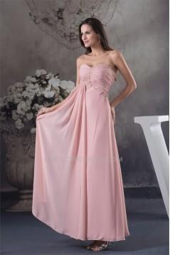 Sheath/Column Sleeveless Chiffon Long Mother of the Bride Dresses 2040087
