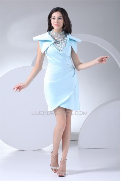 Sleeveless High-Neck Sheath/Column Beading Mother of the Bride Dresses 2040089