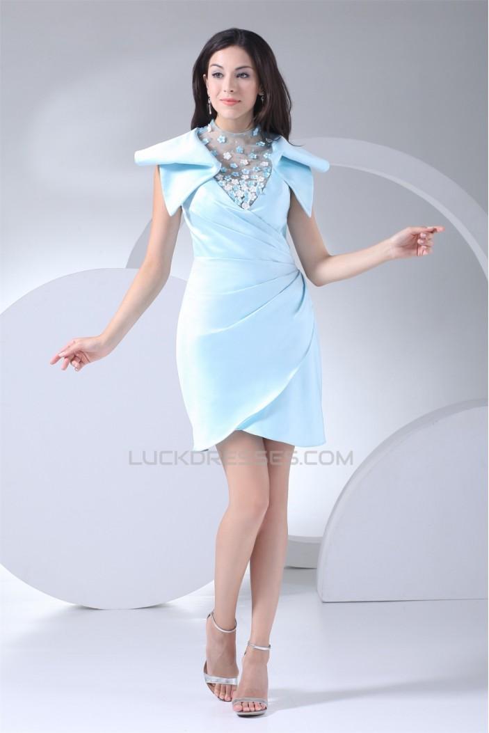 Sleeveless High-Neck Sheath/Column Beading Mother of the Bride Dresses 2040089